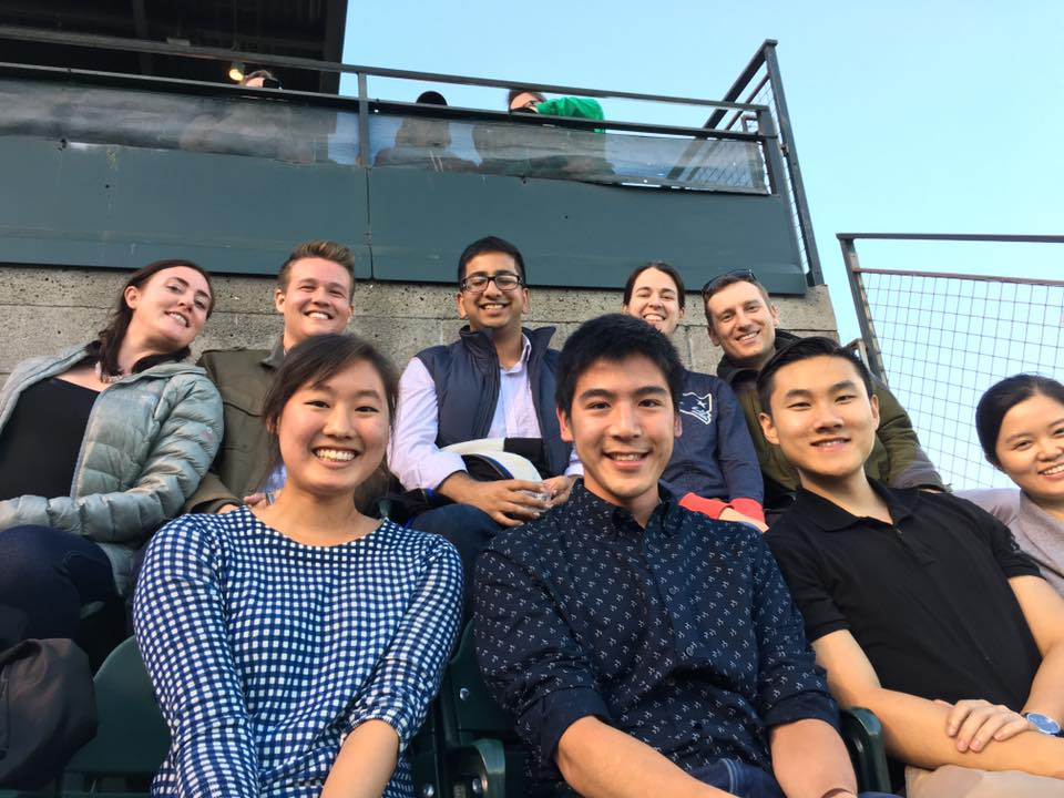 The San Francisco office enjoying a Giant's game