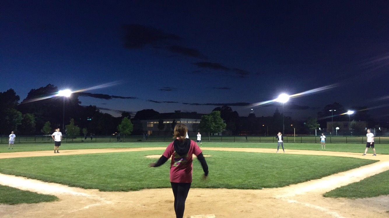 The Boston office competes for Kickball glory in the summer after work