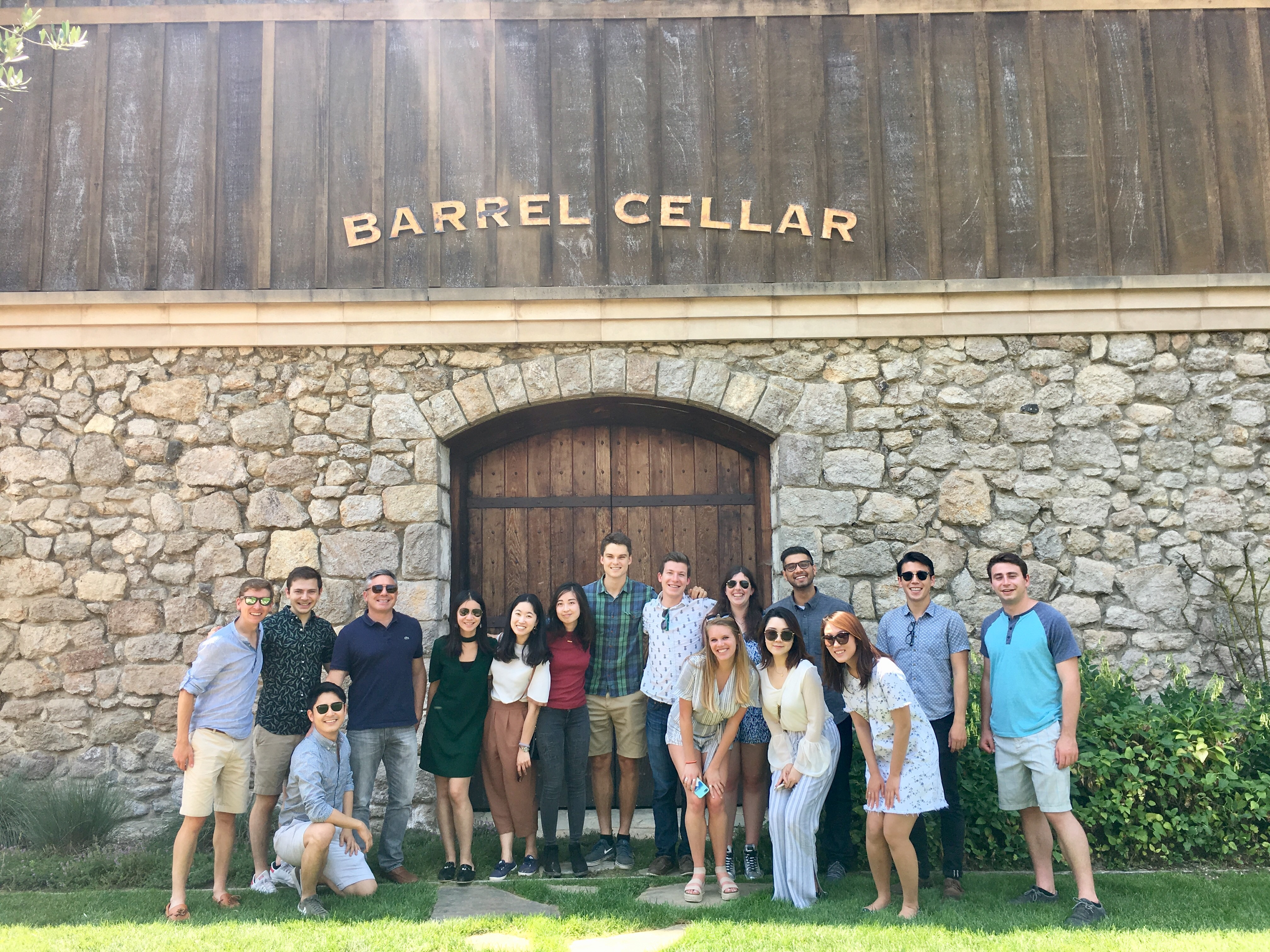 The SF team goes wine tasting for its 2018 summer outing.